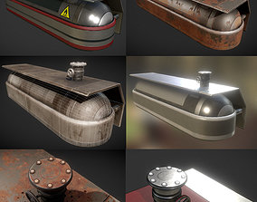 Fuel Tank Collection 3D asset