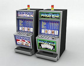 3D asset 2 Casino Video Poker Machines