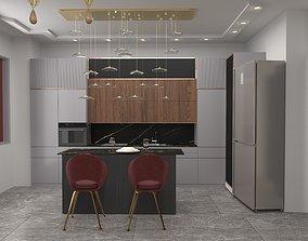 3D kitchen design and bedroom design