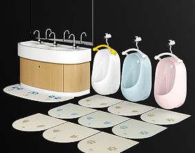 TOTO kids Urinal and Wash basin 3D model