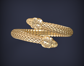 Snake Jewelry Ring 3d print model ouroboros