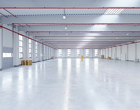 Industrial Warehouse Interior 12 3D model low-poly