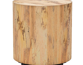 Dillon Spalted Primavera End Table Crate and 3D model