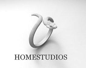 3D printable model RING SNAKE NO GEMS