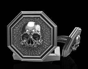 3D print model skull cufflinks ststue