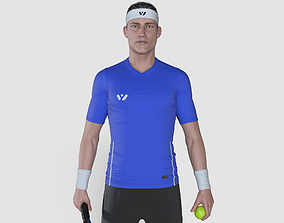 Male Tennis Player 3D rigged