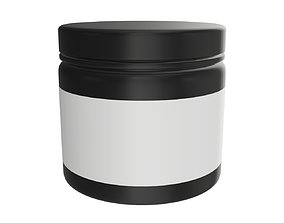 3D model Sport Nutrition Container 02 mockup