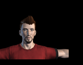 3D model animated Football player