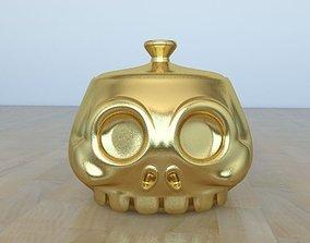 3D printable model Skull Pot
