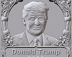 3dcnc Donald Trump 2020 3D printable model