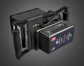 3D asset Assist Monitor 02a HLW - PBR Game Ready