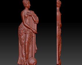 indian woman decor 2 3D printable model