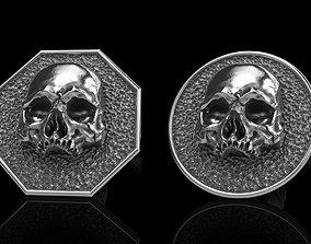skull earrings studs 2 pendant 3D model