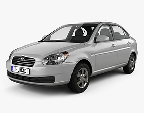 3D Hyundai Accent MC sedan 2006