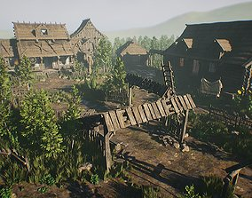 Modular Medieval Village - Unreal Project 3D asset