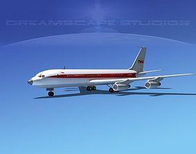 3D model Boeing 707 TWA