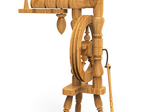 3D model Spinning wheel