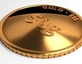 3D model Goldcoin 50gram