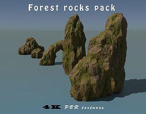 3D model Forest rocks pack