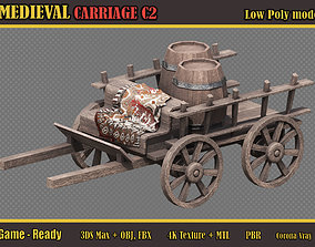 3D asset Medieval Carriage C2