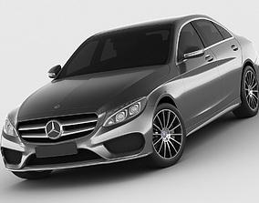 w-205 Mercedes C Class 2014 AMG line 3D model