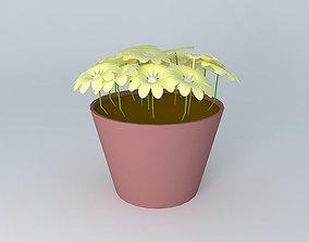 greenery 3D model Flower Pot