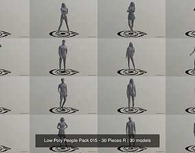 human 3D Low Poly People Pack 015 - 30 Pieces R