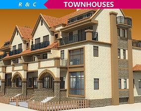 3D asset TOWNHOUSES