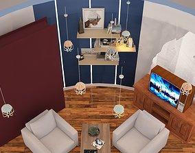 Living room interior 01 3D