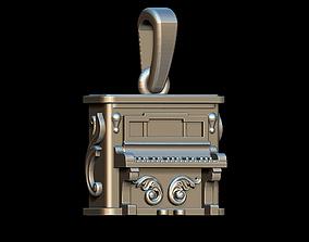 3D printable model Piano pendant