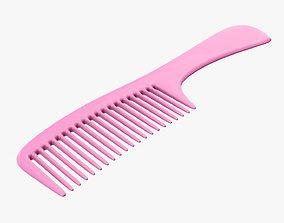 Wide teeth hair comb 2 3D model