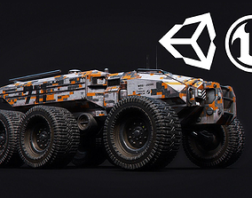 3D asset Technical Vehicle Unreal Engine Rigged UE4 8K