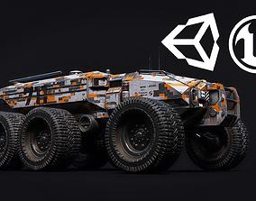 Technical Vehicle transporter Unreal Engine 3D asset 4