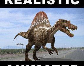 animated Spinosaurus Egypticus - 3d model