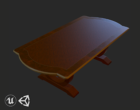 3D model Vintage Furniture Table PBR Game Ready