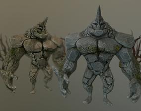 3D model Game ready Rock Golem