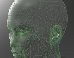 3D print model Solid female head 3