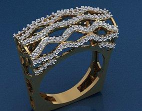fashion-ring Gold Ring 3D print model 3D print