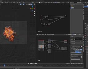 Aerial Explosion VDB Cache 3D model