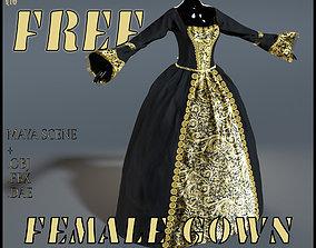 3D model Female Gown