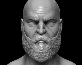 Kratos Bust - GOW GOD OF WAR 3D print model