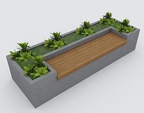 3D model Modern Bench Street and Garden 8