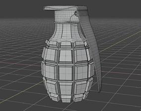 3D model realtime Hand grenade