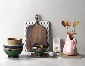 Kitchenware Vegetables and Anthurium 3D