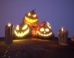 Halloween Pumpkins 3D model VR / AR ready