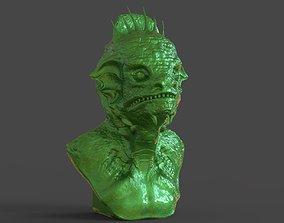 Reptilian Bust 3D printable model