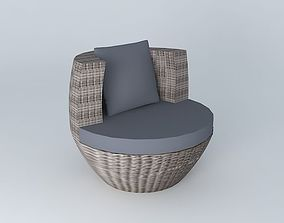 3D model Round armchair PALERMO houses the world