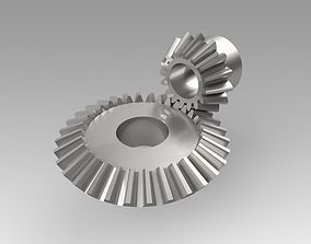 pinion conical 3D model mechanical