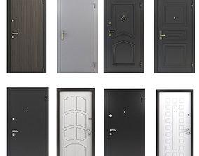 3D model Front doors set