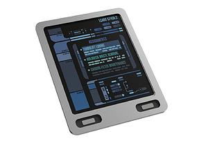 Star Trek Lower Desks Padd with graphics 3D